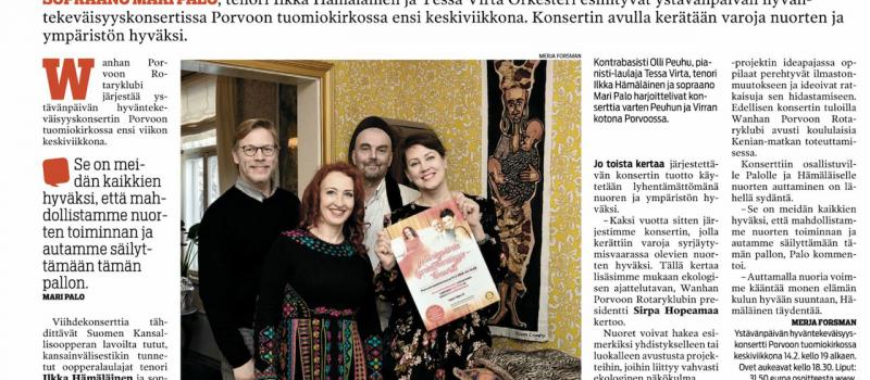 Mari Palo, Ilkka Hämäläinen, Tessa Virta Itavayla 7.2